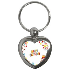 Happy Birthday Key Chains (heart)  by Mariart