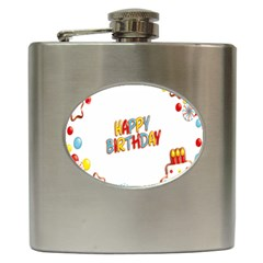 Happy Birthday Hip Flask (6 Oz)