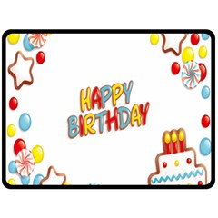 Happy Birthday Fleece Blanket (large)  by Mariart