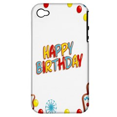 Happy Birthday Apple Iphone 4/4s Hardshell Case (pc+silicone)
