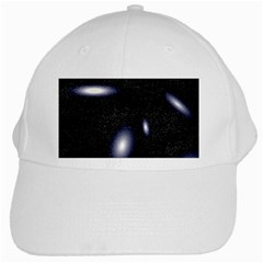 Galaxy Planet Space Star Light Polka Night White Cap by Mariart