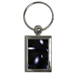 Galaxy Planet Space Star Light Polka Night Key Chains (rectangle)  by Mariart