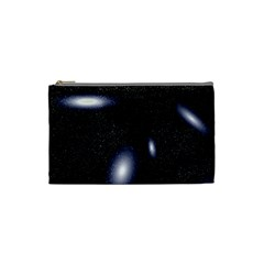 Galaxy Planet Space Star Light Polka Night Cosmetic Bag (small)  by Mariart