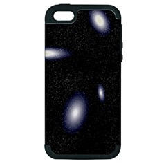 Galaxy Planet Space Star Light Polka Night Apple Iphone 5 Hardshell Case (pc+silicone) by Mariart