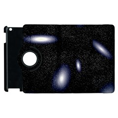 Galaxy Planet Space Star Light Polka Night Apple Ipad 3/4 Flip 360 Case by Mariart
