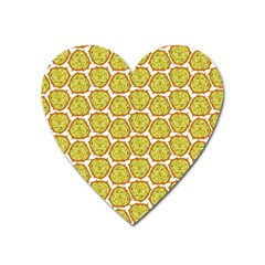 Horned Melon Green Fruit Heart Magnet by Mariart