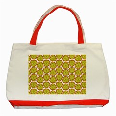 Horned Melon Green Fruit Classic Tote Bag (red) by Mariart