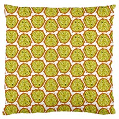 Horned Melon Green Fruit Large Cushion Case (two Sides) by Mariart