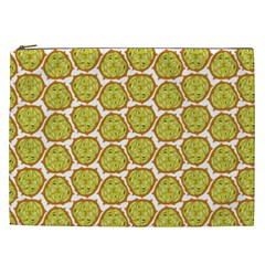 Horned Melon Green Fruit Cosmetic Bag (xxl)  by Mariart