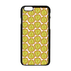 Horned Melon Green Fruit Apple Iphone 6/6s Black Enamel Case by Mariart