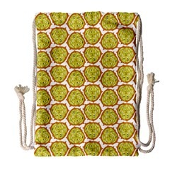 Horned Melon Green Fruit Drawstring Bag (large) by Mariart
