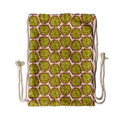 Horned Melon Green Fruit Drawstring Bag (small) by Mariart