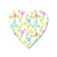 Fruit Grapes Purple Yellow Blue Pink Rainbow Leaf Green Heart Magnet by Mariart
