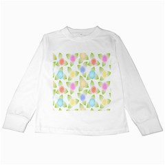 Fruit Grapes Purple Yellow Blue Pink Rainbow Leaf Green Kids Long Sleeve T Shirts