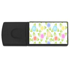Fruit Grapes Purple Yellow Blue Pink Rainbow Leaf Green Usb Flash Drive Rectangular (4 Gb) by Mariart