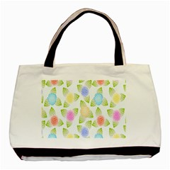 Fruit Grapes Purple Yellow Blue Pink Rainbow Leaf Green Basic Tote Bag (two Sides) by Mariart