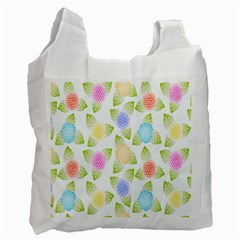 Fruit Grapes Purple Yellow Blue Pink Rainbow Leaf Green Recycle Bag (one Side) by Mariart