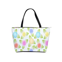 Fruit Grapes Purple Yellow Blue Pink Rainbow Leaf Green Shoulder Handbags by Mariart