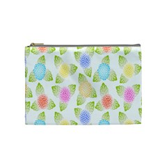 Fruit Grapes Purple Yellow Blue Pink Rainbow Leaf Green Cosmetic Bag (medium)  by Mariart