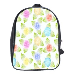 Fruit Grapes Purple Yellow Blue Pink Rainbow Leaf Green School Bags(large)