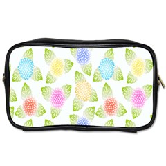 Fruit Grapes Purple Yellow Blue Pink Rainbow Leaf Green Toiletries Bags 2 Side by Mariart