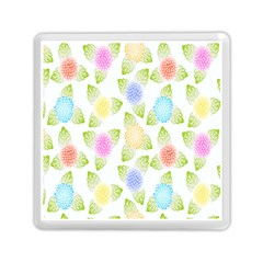 Fruit Grapes Purple Yellow Blue Pink Rainbow Leaf Green Memory Card Reader (square)  by Mariart