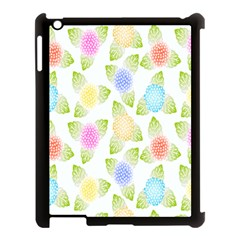 Fruit Grapes Purple Yellow Blue Pink Rainbow Leaf Green Apple Ipad 3/4 Case (black) by Mariart
