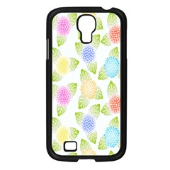 Fruit Grapes Purple Yellow Blue Pink Rainbow Leaf Green Samsung Galaxy S4 I9500/ I9505 Case (black) by Mariart