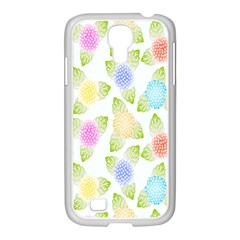 Fruit Grapes Purple Yellow Blue Pink Rainbow Leaf Green Samsung Galaxy S4 I9500/ I9505 Case (white) by Mariart