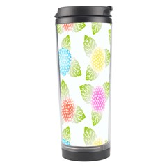 Fruit Grapes Purple Yellow Blue Pink Rainbow Leaf Green Travel Tumbler by Mariart