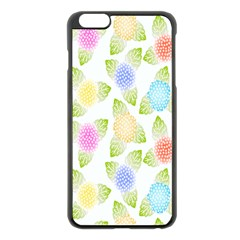 Fruit Grapes Purple Yellow Blue Pink Rainbow Leaf Green Apple Iphone 6 Plus/6s Plus Black Enamel Case by Mariart