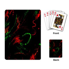 Paint Black Red Green Playing Card