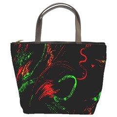 Paint Black Red Green Bucket Bags by Mariart