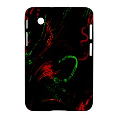 Paint Black Red Green Samsung Galaxy Tab 2 (7 ) P3100 Hardshell Case  by Mariart