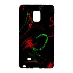 Paint Black Red Green Galaxy Note Edge by Mariart