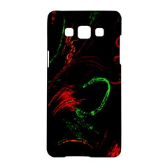Paint Black Red Green Samsung Galaxy A5 Hardshell Case  by Mariart