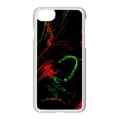 Paint Black Red Green Apple Iphone 7 Seamless Case (white) by Mariart