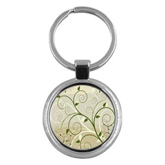 Leaf Sexy Green Gray Key Chains (round)  by Mariart