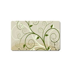 Leaf Sexy Green Gray Magnet (name Card) by Mariart