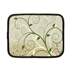 Leaf Sexy Green Gray Netbook Case (small)  by Mariart