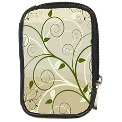 Leaf Sexy Green Gray Compact Camera Cases by Mariart