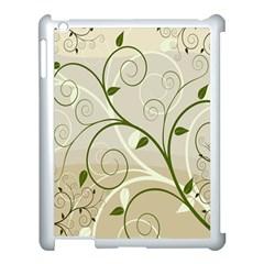 Leaf Sexy Green Gray Apple Ipad 3/4 Case (white) by Mariart
