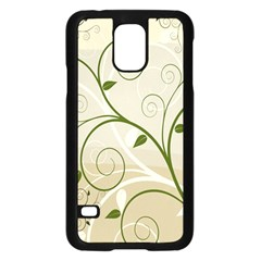 Leaf Sexy Green Gray Samsung Galaxy S5 Case (black) by Mariart