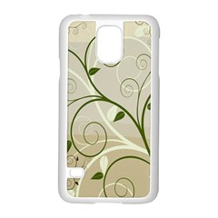 Leaf Sexy Green Gray Samsung Galaxy S5 Case (white) by Mariart