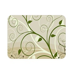 Leaf Sexy Green Gray Double Sided Flano Blanket (mini)  by Mariart