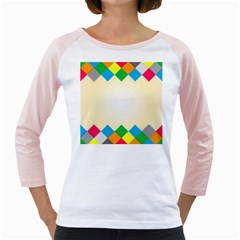 Plaid Wave Chevron Rainbow Color Girly Raglans by Mariart