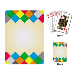 Plaid Wave Chevron Rainbow Color Playing Card by Mariart