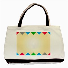 Plaid Wave Chevron Rainbow Color Basic Tote Bag by Mariart