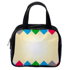 Plaid Wave Chevron Rainbow Color Classic Handbags (one Side) by Mariart