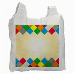 Plaid Wave Chevron Rainbow Color Recycle Bag (two Side)  by Mariart